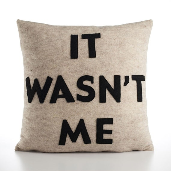 Items Similar To It Wasnt Me Recycled Felt Applique