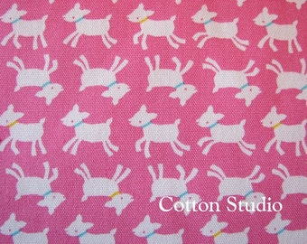 Kawaii Goat Japanese Fabric Pink 1 Yard