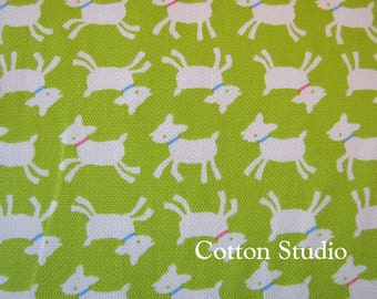 Goat Farm Animal Japanese Fabric Lime Green 1 yard