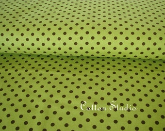 Dumb Dot Avocado Michael Miller Fabric 1 yard