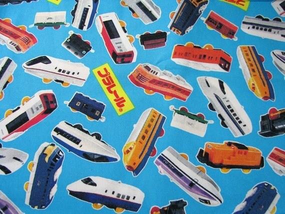 Japanese Fabric - Tomy Trains 1/2 yard