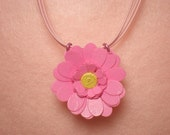Pink Lover's Paper Daisy Necklace