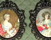 vintage ornate framed italian prints