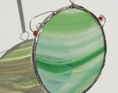 Mint Green Stained Glass Holiday Ornament