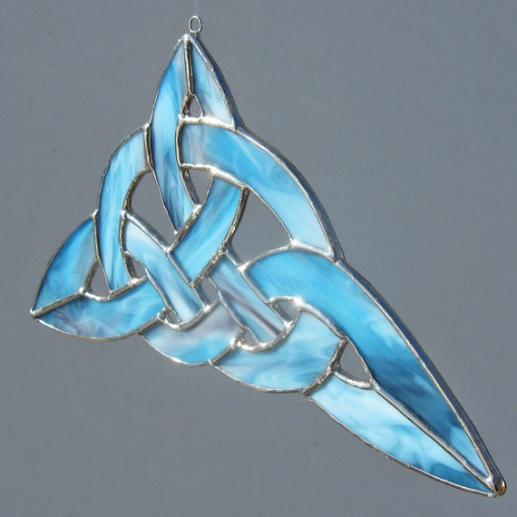 Celtic Knot Stained Glass Suncatcher and Home Decor