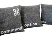 I'm a Mac-- Three Pillow Set- - Geeks Need Pillows Too