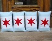 Chicago Flag Pillows- ONE Pillow