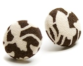 New Fall Style, Buy three get the fourth FREE, Kara fabric button earrings