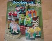 Plastic Canvas Pattern Book Sports Bookends, Sports Bookends in Plastic Canvas Book