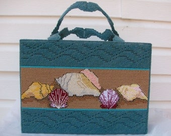 Beach Tote Bag, Seashell Tote Bag , Beach Scene Bag