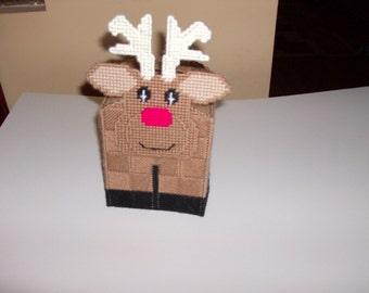 Rudolph Tissue Box Cover