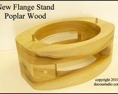 In-Stock-Ready-To-Ship, Hat Making Tool Flange Stand Millinery Hats Solid Poplar Wood Improved Design with Vintage Styling