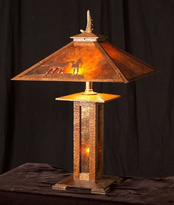 Commission custom order arts and crafts mission by decoustudio for Crafting wooden lamps