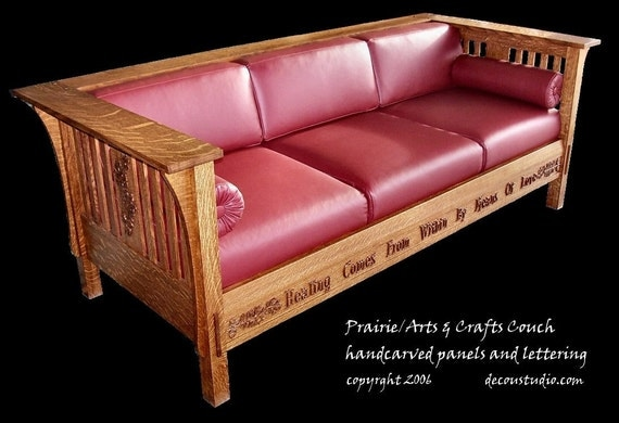Built To Order Mission Prairie Couch Arts And Crafts Style