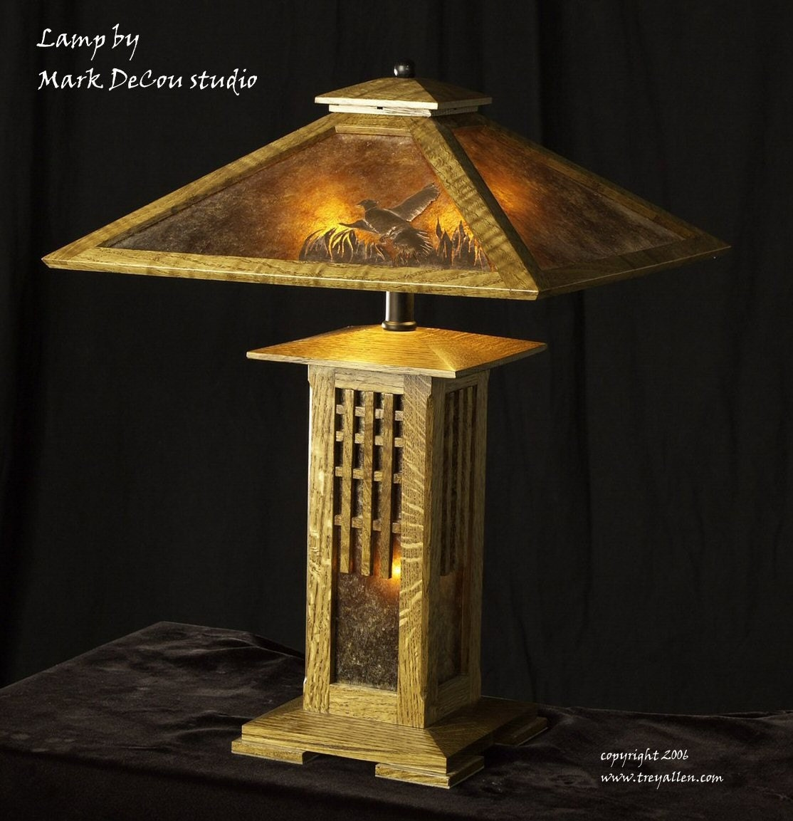 Built To Order Mission Style Table Lamp Arts And Crafts Oak
