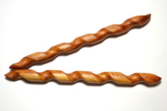 Pair of Canary wood Hair Sticks