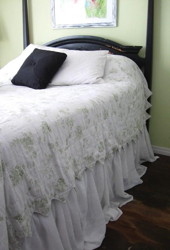 Shabby Full Bed Skirt Dust Ruffle White By Vivianelisabethamis