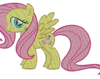 Fluttershy Embroidery Design File - Pick Your Size & Format