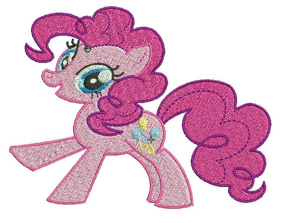 Pinkie Pie Embroidery Design File - Pick Your Size & Format