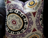 2 Throw Pillow Covers 18x18 - Solar Flair Waverly Fabric - Fall/Winter Colors
