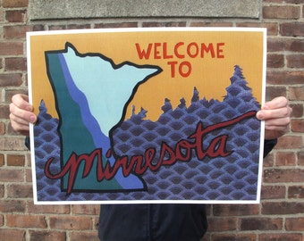 Welcome to Minnesota print