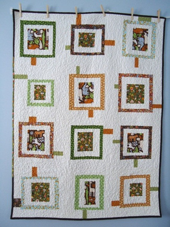 Wonky Zoo Baby Quilt