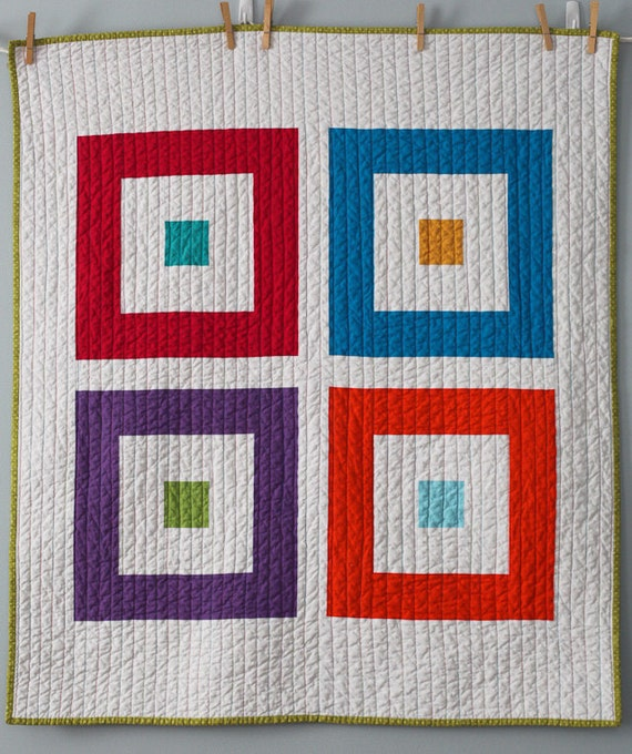 Four Squared Baby Quilt -- RESERVED