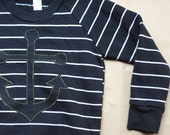 striped anchor pullover CLEARANCE