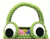 Frog Easter Basket Crochet Pattern PDF INSTANT DOWNLOAD