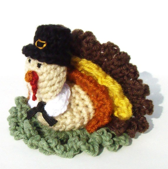 Turkey Pilgrim Thanksgiving Bath Scrubbie PDF Crochet Pattern INSTANT DOWNLOAD Thanksgiving Turkey Pilgrim
