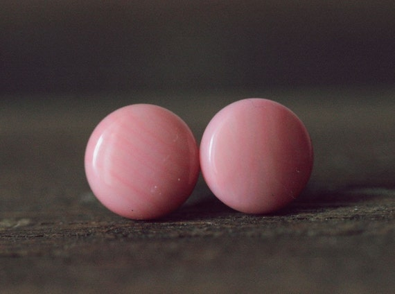 Pink Coral Ear Studs