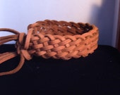 SALE leather braided cuff