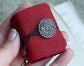 Tiny Red Leather Book- a locket for your thoughts