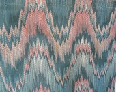 Missoni Like Fabric Flame Stitch Ikat Zig Zag Pink Teal Upholstery by the Yard Chevron