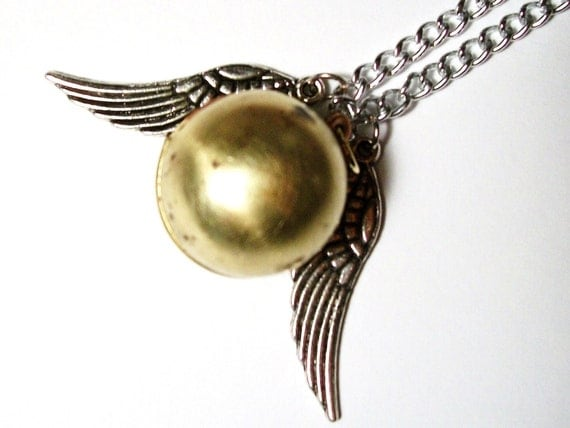 Harry Potter Large Golden Snitch Locket Necklace