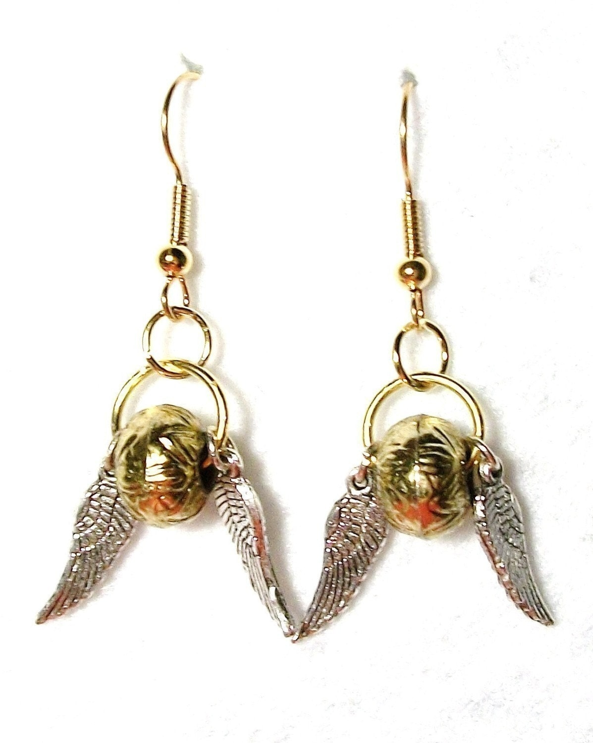golden snitch earrings harry potter golden snitch earrings 6570