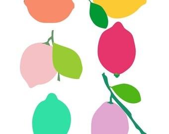 Lemon Print, Citrus Print, Kitchen Art Prints, Kitchen Art Decor, Art For Kitchen, Kitchen Art Work, Vegetable Poster, Modern Kitchen Art,
