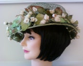 Floral Hat Romantic Shabby Chic