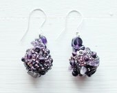 Ametyst earrings