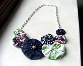 The Fancy Hen Fabric Necklace