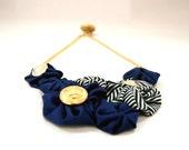 Nautical Fabric Necklace