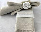 8 Cloth Napkins Unbleached Cotton Set of 8 - HomeGoodsAlacarte