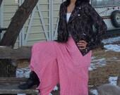 Gypsy style Pink Eyelet Split Skirt