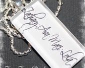 Personalized Glass Tile Mother's Necklace