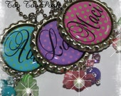 PERSONALIZED Polka Dotted Bottle Cap Pendant Necklace U CHOOSE COLOR