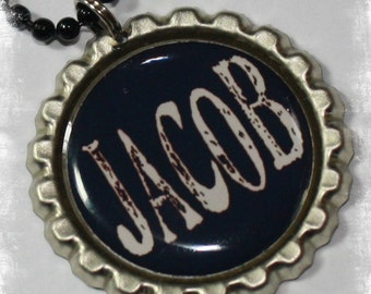 PERSONALIZED Boy's  Bottle Cap Necklace