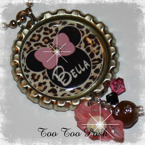 PERSONALIZED Leopard MOUSE INSPIRED Necklace