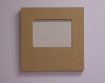 """5 11"""" x 11"""" Picture Frame, holds 5 x 7 inch photo made from 5/8 inch MDF  7-9F A"""