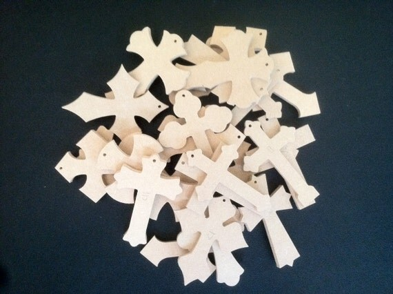 """Bag of Crosses,  2 1/2"""" x 4"""" x 1/4 """". We pick the style and you save, Comes in 25 to 500 a bag, Free shipping, BC020425-X-2"""