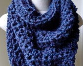 RESERVE for Marie Christine Baby Alpaca Cowl Peacock Blue